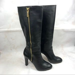 Banana republic black Vitah tall boots zip sz 8.5
